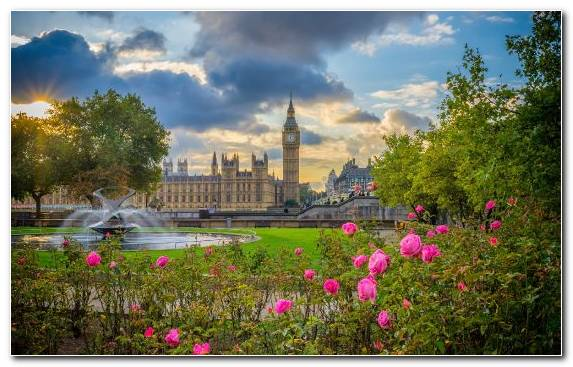 Image River Thames Palace Of Westminster Factory Flora Cloud