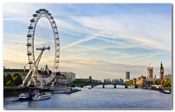 Image River Thames Tourist Attraction Sky Cityscape London View