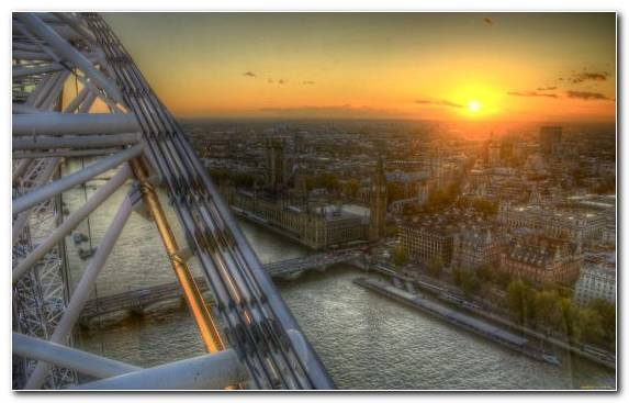 Image River Thames Waterway River London Eye Palace Of Westminster