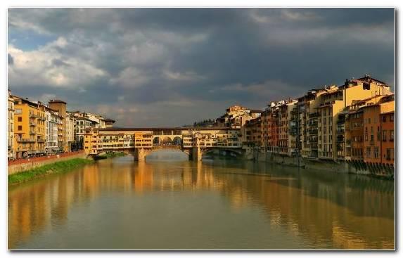 Image river town bridge canal waterway