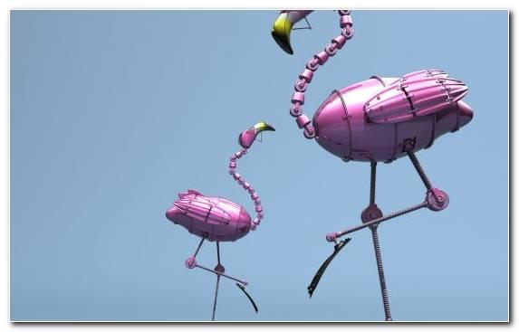 Image robot beak flamingo bird figures