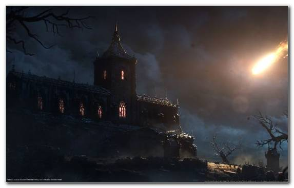 Image role playing game darkness building evening video games
