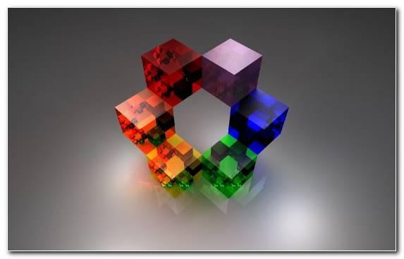Image Rubiks Cube Cube Plastic Glass Fractal Art