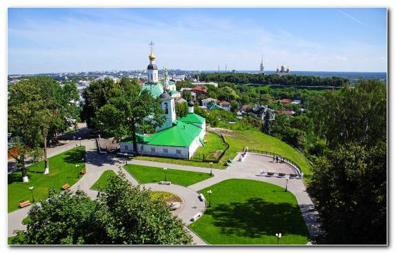 Image russia birds eye view real estate park leisure