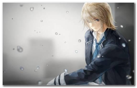 Image Sadness Water Girl Anime Sky