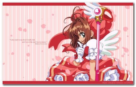 Image Sakura Kinomoto Pink Illustration Petal Cardcaptor Sakura