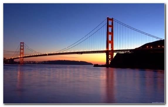 Image San Francisco Oakland Twilight Sky San Francisco Bay
