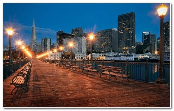 Image San Francisco Reflection Sky Skyline Night