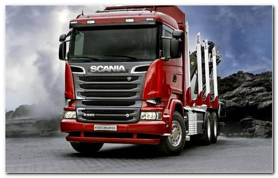 Image Scania Ab Trailer Truck Semi Trailer Truck Logging Truck Freight Transport