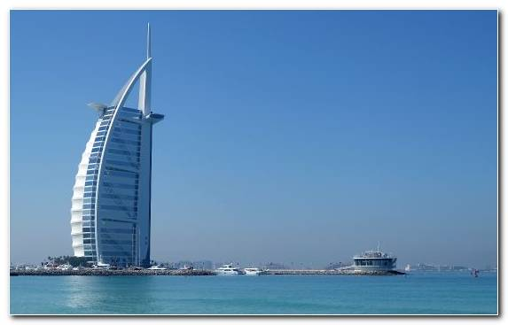 Image Sea Day Burj Al Arab Jumeirah Burj Khalifa The World