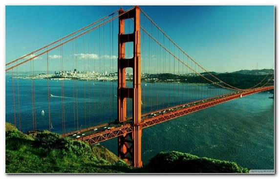 Image Sea Extradosed Bridge Beam Bridge Marin County California Landmark