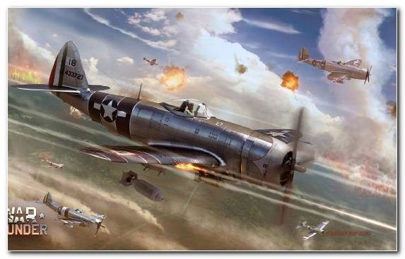 Image Second World War Republic P 47 Thunderbolt Supermarine Spitfire World War II Aviation