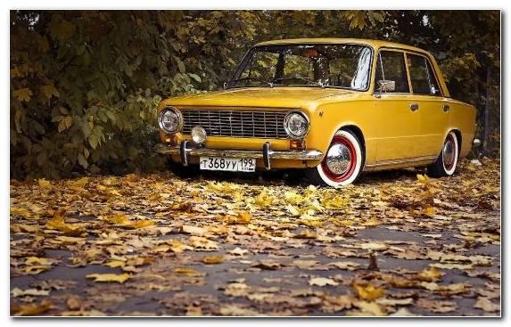 Image Sedan Car Lada Yellow City Car