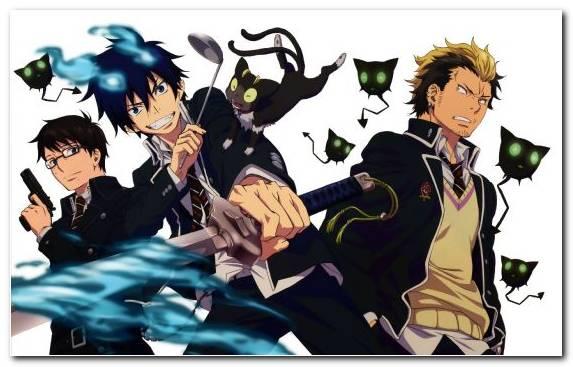 Image Shiemi Moriyama Yukio Okumura Fiction Fictional Character Blue Exorcist