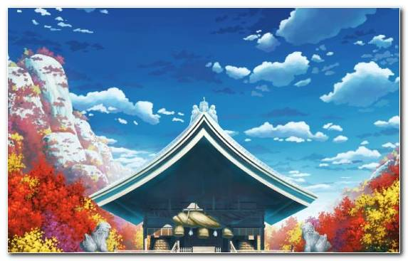 Image Shinto Shrine Reimu Hakurei Tourism Daytime Cloud