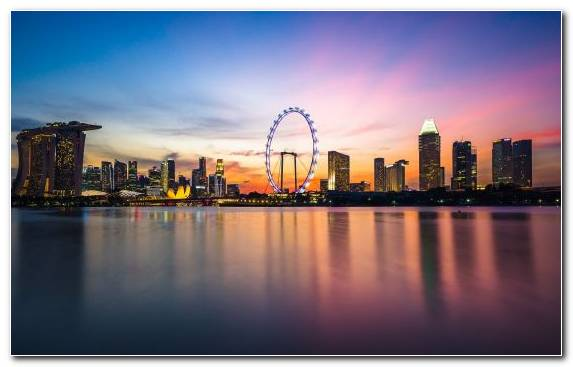 Image Sky Singapore Flyer City Cityscape Building