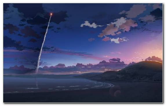 Image Sky Atmosphere Dusk Evening Anime