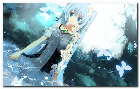 Image Sky Blue Hair Anime Bunches Vocaloid