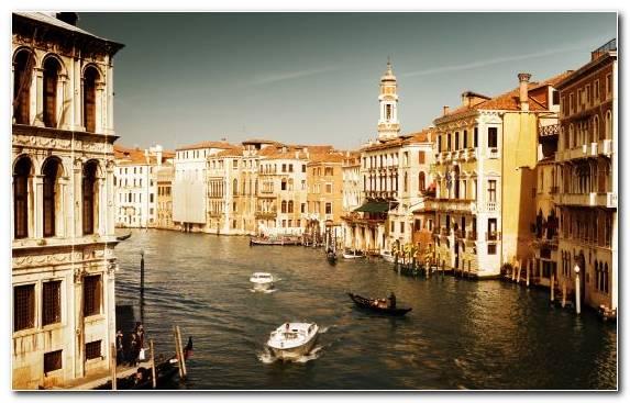 Image Sky Canal Boat Gondola Capital City