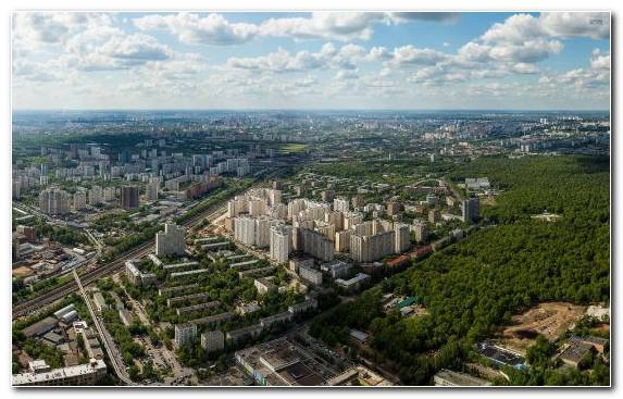 Image Sky City Capital City Moscow Suburb