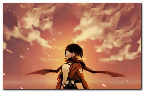Image Sky Cloud Fictional Character Levi Mikasa Ackerman