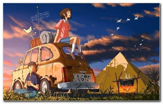 Image sky fiction camping illustration cartoon