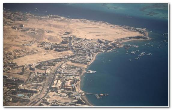 Image Sky Hurghada Estuary Horizon Birds Eye View