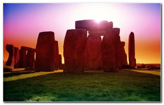 Image Sky Landscape Historic Site Stonehenge Sunlight