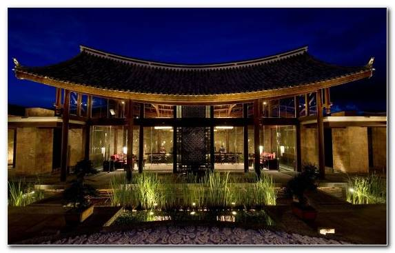 Image Sky Lighting Resort Night Chinese Architecture