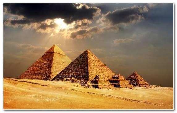 Image sky pyramid cloud landscape monument
