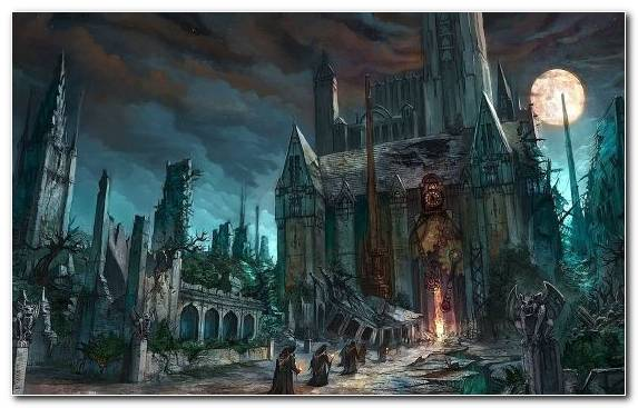 Image Sky Ruins Dark Fantasy Cathedral Capital City