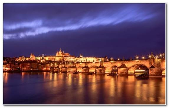 Image Sky Tourism Bridge Prague River
