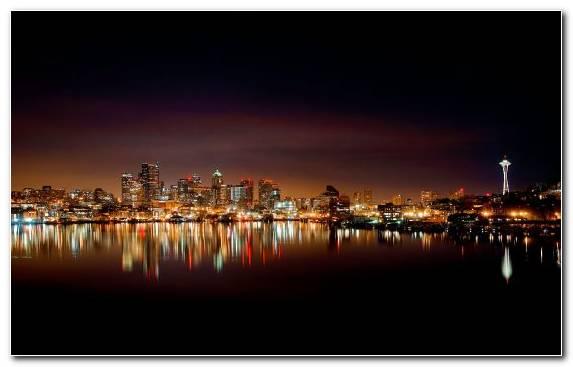 Image Sky Urban Area Night Horizon Cityscape