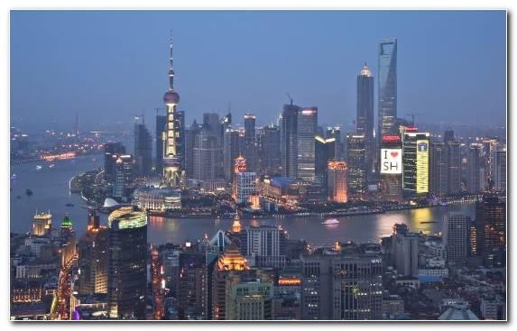 Image Skyline Pudong City Metropolis Landmark