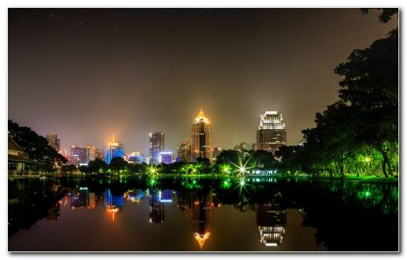 Image Skyline Body Of Water Bangkok Capital City Horizon