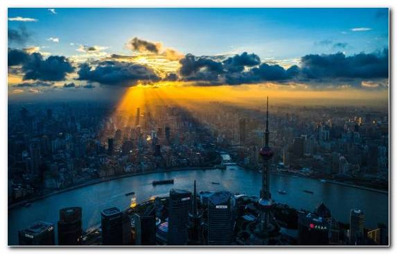 Image Skyline Cityscape Shanghai Day Cloud