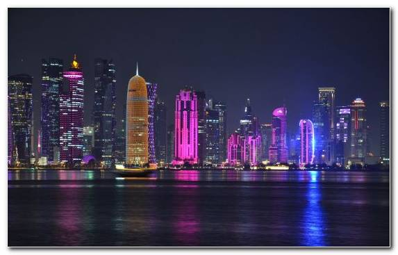 Image Skyline Metropolis Landmark Reflection Doha