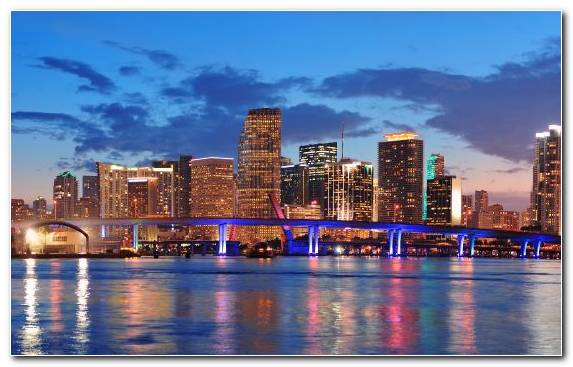 Image Skyline Metropolis Real Estate Miami Beach City
