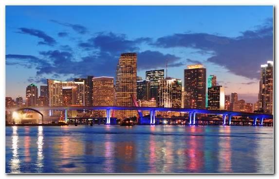 Image Skyline Metropolis Real Estate Miami Beach City