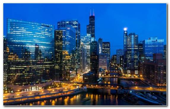 Image Skyline Night Metropolis Cityscape Willis Tower
