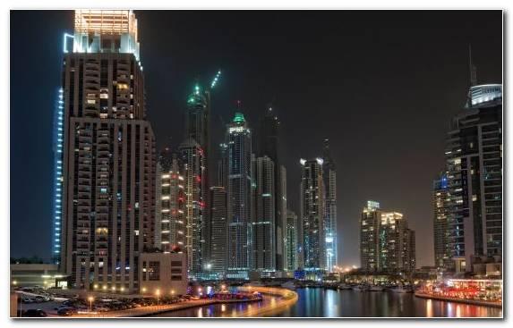 Image Skyline Skyscraper Night Cityscape Burj Al Arab Jumeirah