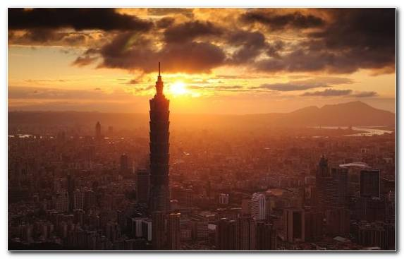 Image Skyline Taipei 101 Capital City Cityscape Sky