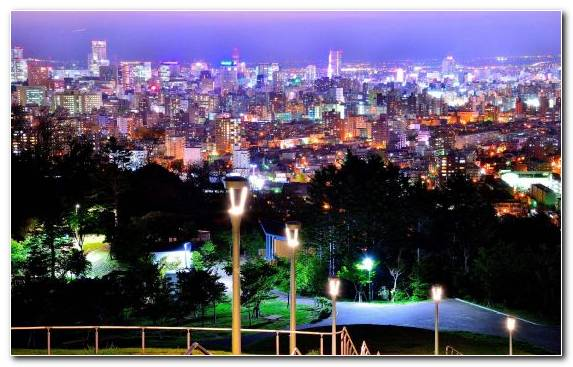 Image Skyline Town Nightscape House Park