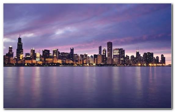 Image skyline urban area handheld devices horizon chicago
