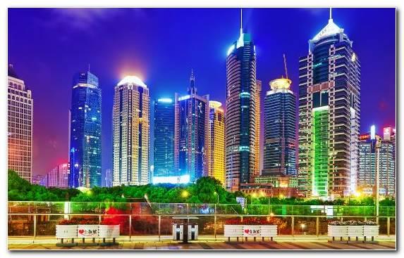 Image Skyscraper Pudong Cityscape Horizon Skyline