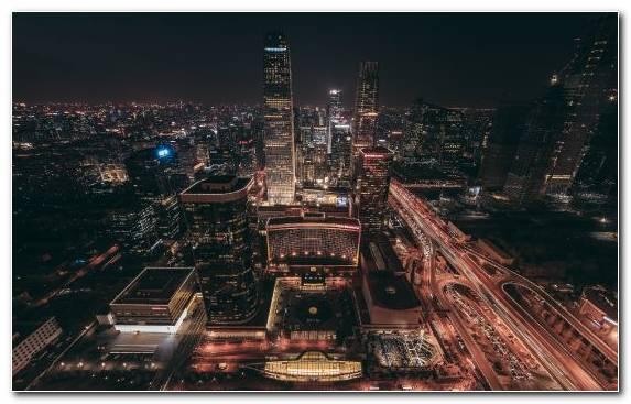 Image Skyscraper Beijing Cityscape Metropolis Night