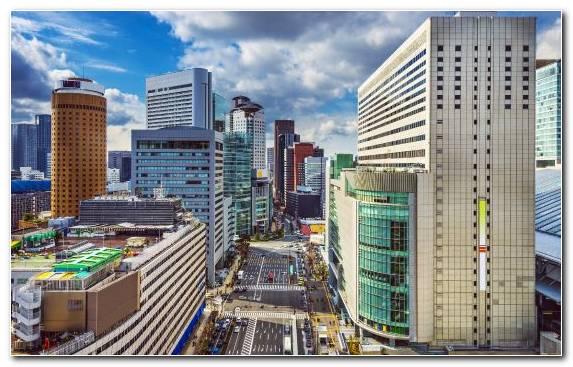Image Skyscraper Building Osaka Metropolis City