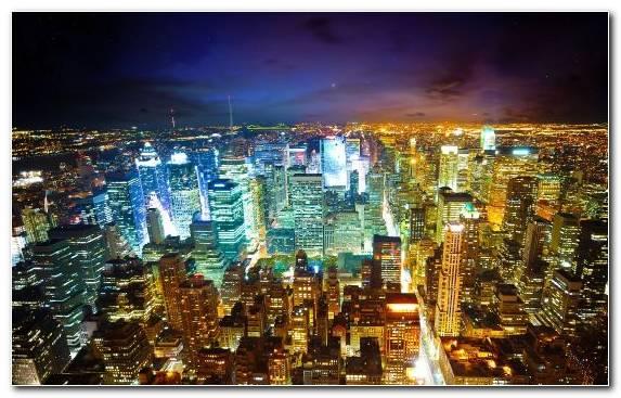Image skyscraper city horizon urban area empire state building