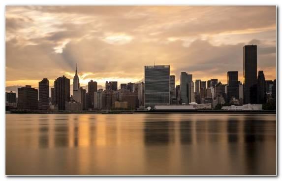 Image Skyscraper Reflection New York City Cityscape Capital City