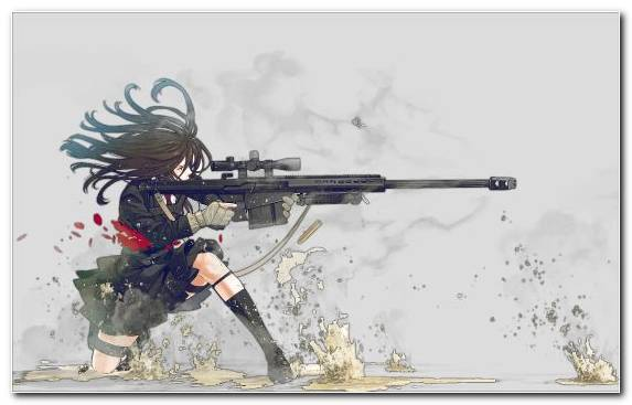 Image Sniper Rifle Manga Anime Rifle Firearm